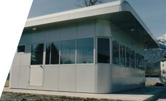 prefabricated with aluminum panels coating